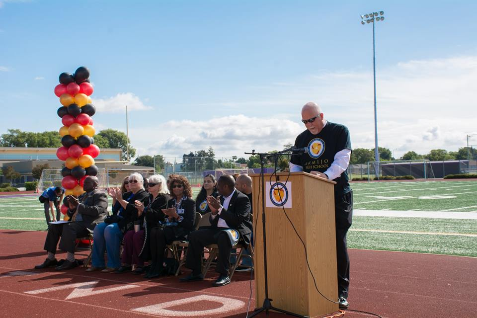 In+one+of+his+last+official+presentations%2C+Principal+Eric+Tretten+shares+some+of+the+positives+of+Armijo+High+School.