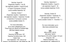 SATs being offered in August – deadline for registration is July 28