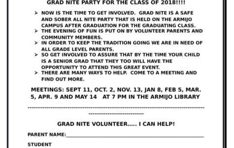 Grad Nite volunteers needed