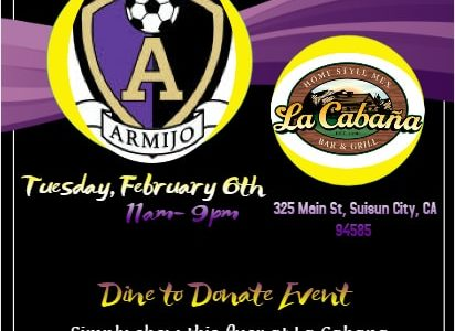 Dine, donate and support Men's Soccer on February 6