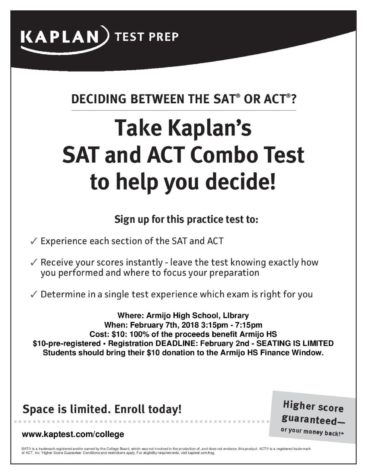 SAT and ACT test dates and deadlines