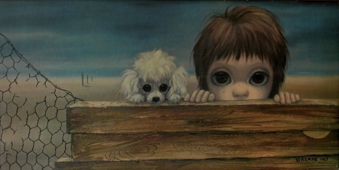 Margaret Keane's art in the style above inspired this intense film about an intense relationship.