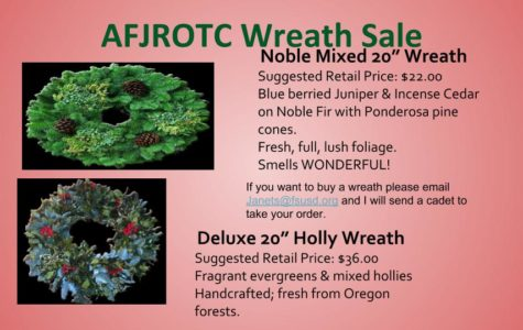 Buy a Wreath through November 8 and Support a Cadet