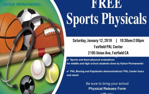 Kaiser will host a FREE sports physical day again at the PAL Center on Saturday, January 12