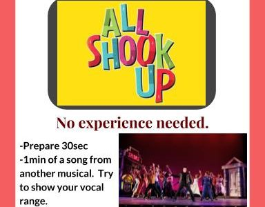 Musical Theatre Try-Outs Take Place December 6-7