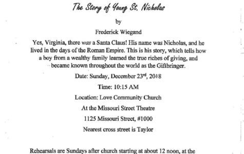 """Enjoy """"Giftbringer: The Story of Young St. Nicholas"""" on stage"""