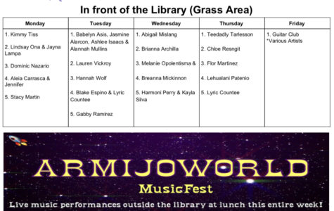 "April welcomes ""Armijo World"" Music Festival"