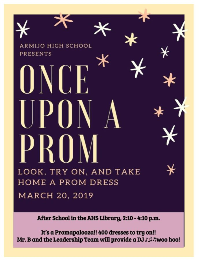 Armijo Offers Prom Dresses on March 20