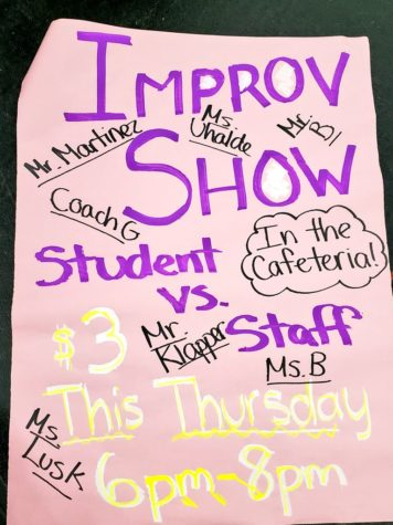 Students vs. Staff Improv Promises Goofy Fun