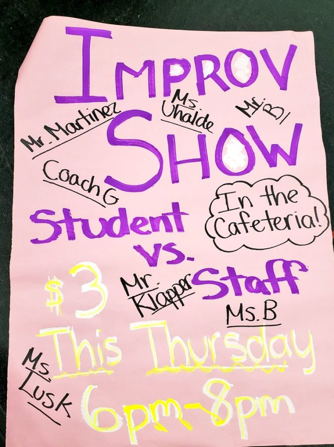 Students vs. Staff Improv Promises Goofy Fun