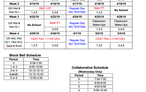 Block Scheduling to Begin in April
