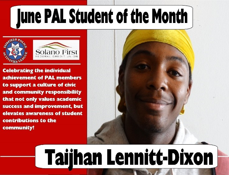 Armijo Student Chosen as Solano First Student of the Month for June