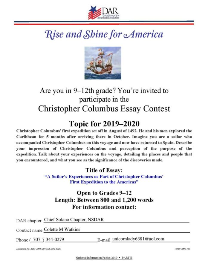 Writing contest features grand prize of $1200 and DC trip