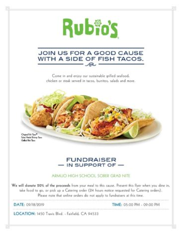 Support Grad Nite, eat at Rubio
