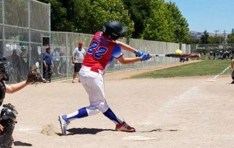 Off-campus athlete: Cakus up at bat