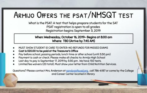 PSAT sign-ups now available in the Treasurer's Office