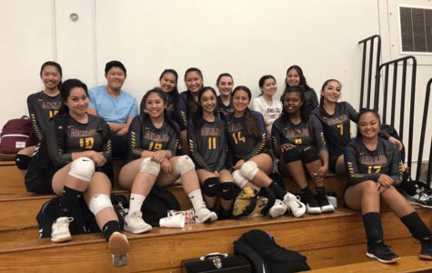 The volleyball team works and plays with intensity