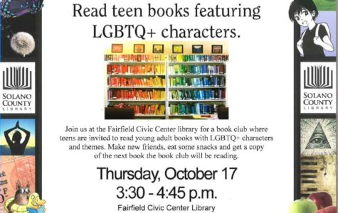 Rainbow Reads Book Club Oct. 17 at Fairfield Civic Center Library