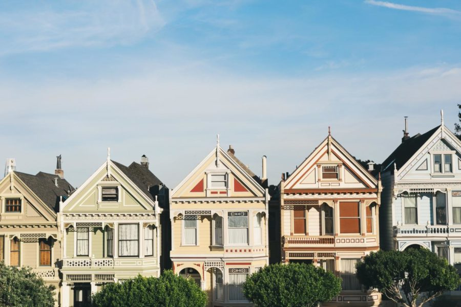 Art in San Francisco ranges from the Painted Ladies (shown above) to an assortment of museums.