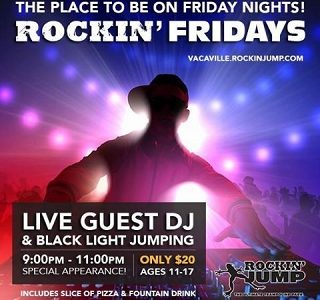 Rock Out Fridays at Rockin' Jump Vacaville Fridays through Dec.20