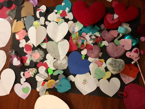Emily's collection of hearts brings her joy, just because they are beautiful.