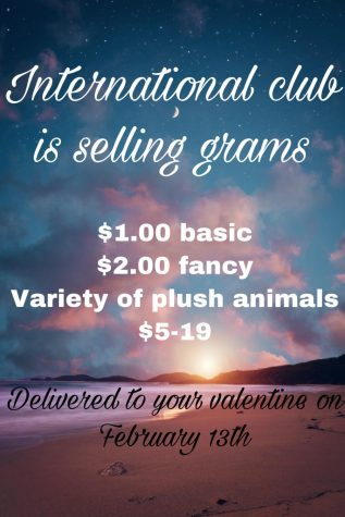 International Club is selling grams !