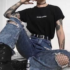 A cute edgy outfit idea