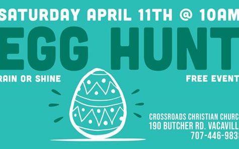 Easter Egg Hunt held by Crossroads Church 4/11