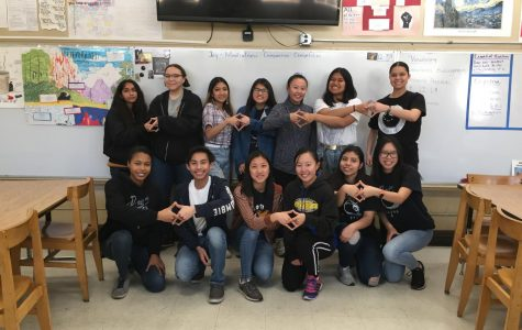 Key Club members show unity in their service for others.
