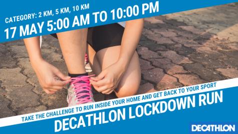 Lockdown Decathlon Run 2020 May 16-17