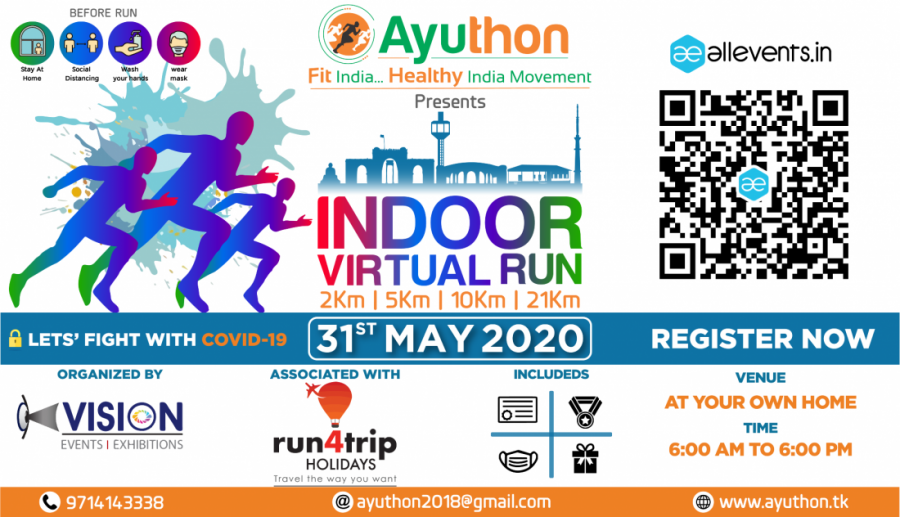 Indoor Virtual Run to Fight Covid- May 31st