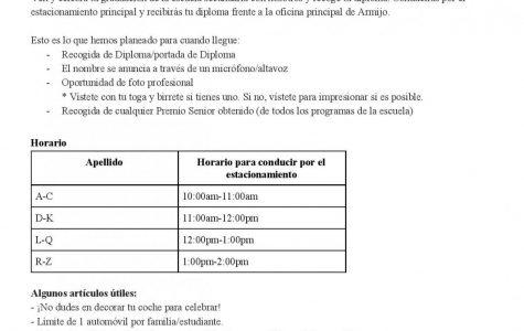 Fiestas de graduación 16 y 17 de junio