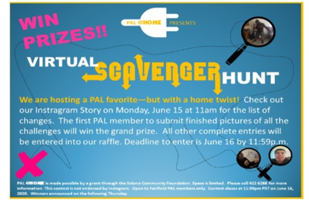 June 15, join PAL for a Scavenger Hunt