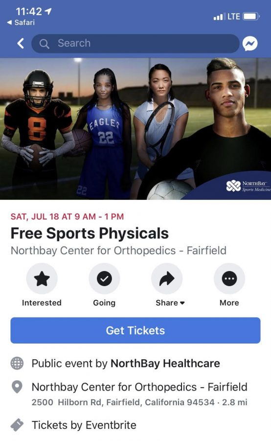 Free physicals available on July 18