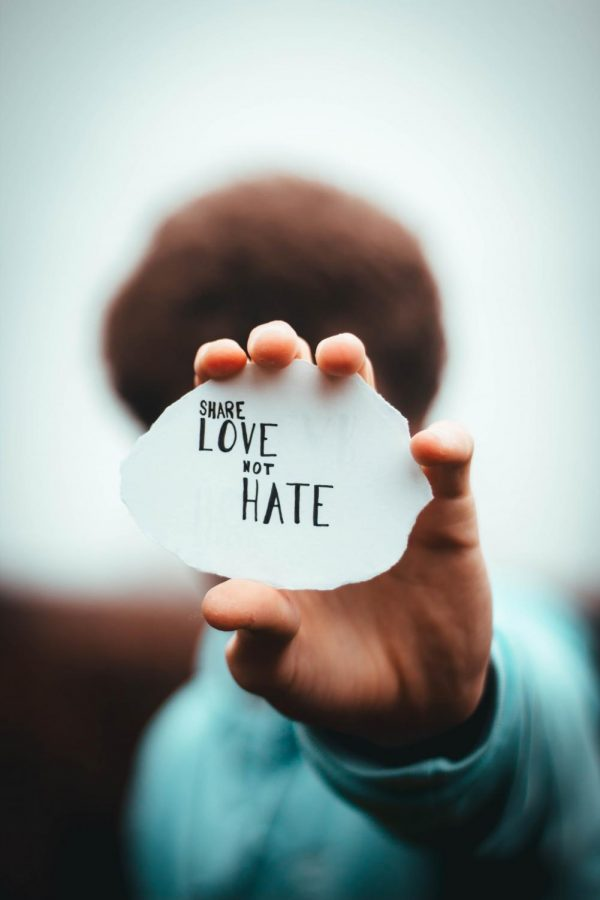 Think about your actions before doing them. End hate crime.