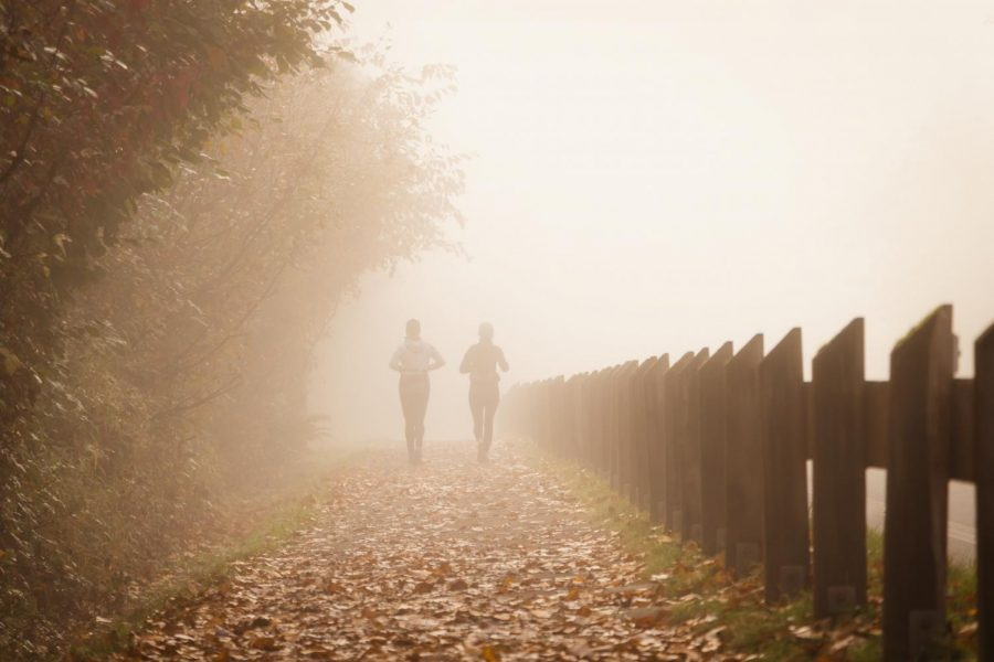 A quiet run with a friend may be the best way to celebrate.