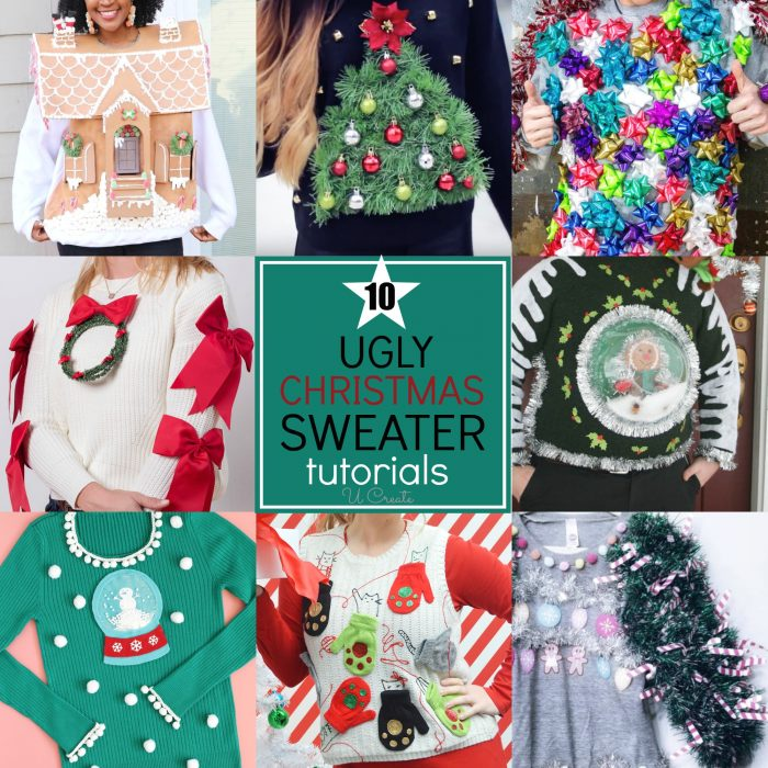 Check out https://www.u-createcrafts.com/diy-ugly-christmas-sweater-ideas/ for suggestions.