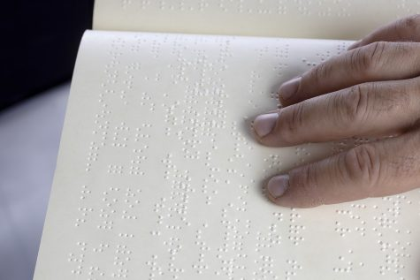 Braille allows the blind to read.