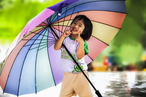 Smile and celebrate the umbrella all month long.