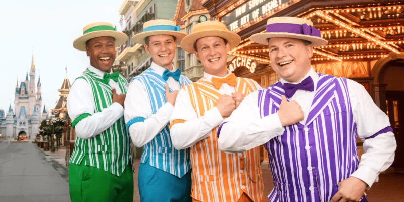 The Dapper Dans performed songs at Walt Disney World.