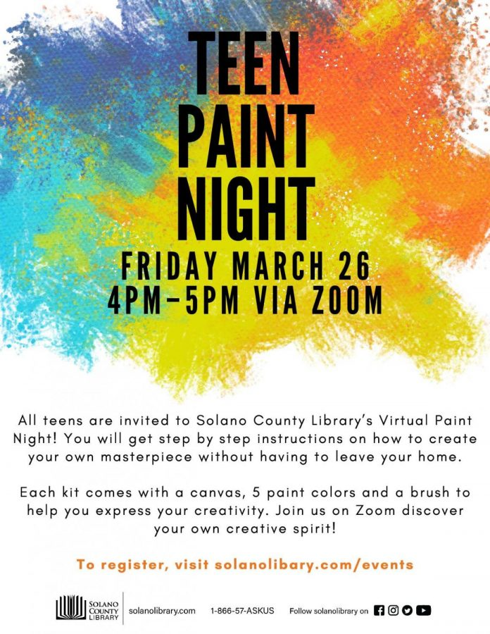 Stop on by to have a digital paint night!