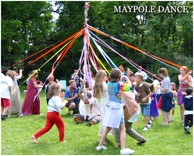 Intricate movements create fun challenges on a maypole.