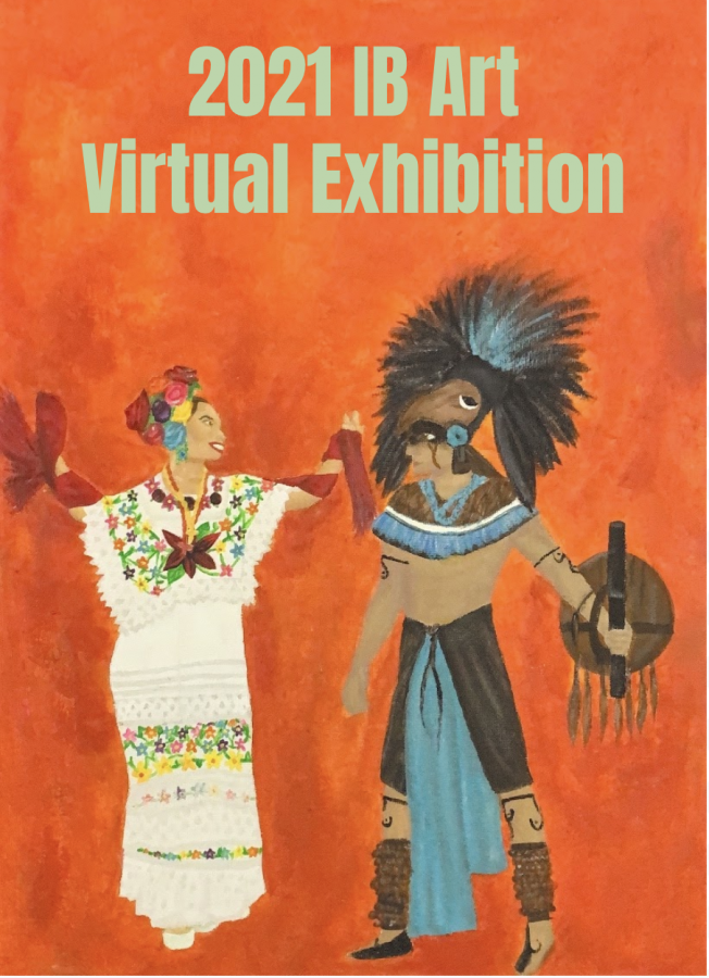 Modern Day Mayan, Yucatan México, Acrylic on Canvas, 41x30cm,Vanessa Pacheco Pena HL IB Art