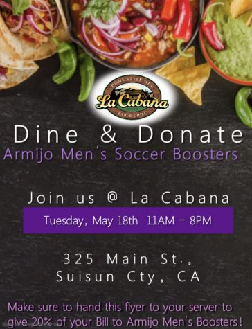 Help soccer by eating out on May 18