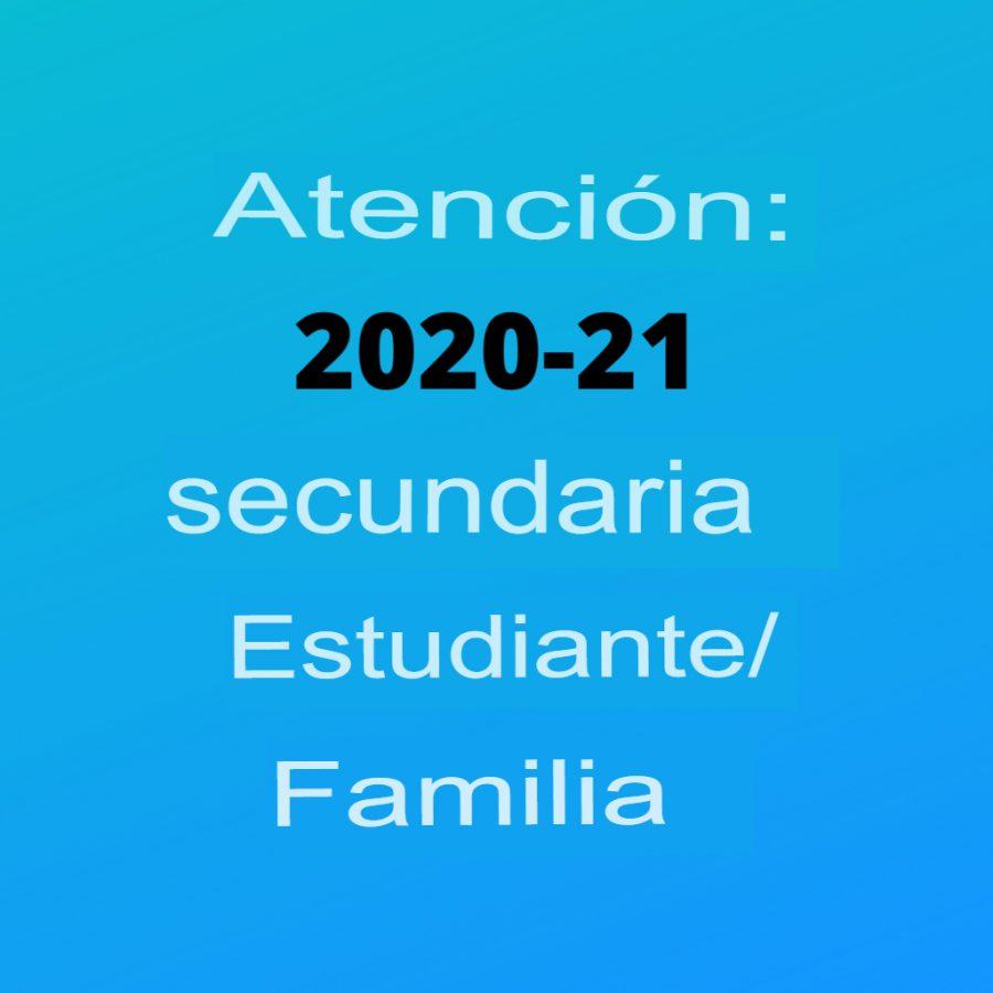 Los cambios de calificación para 2020-2021 se considerarán hasta el 13 de agosto