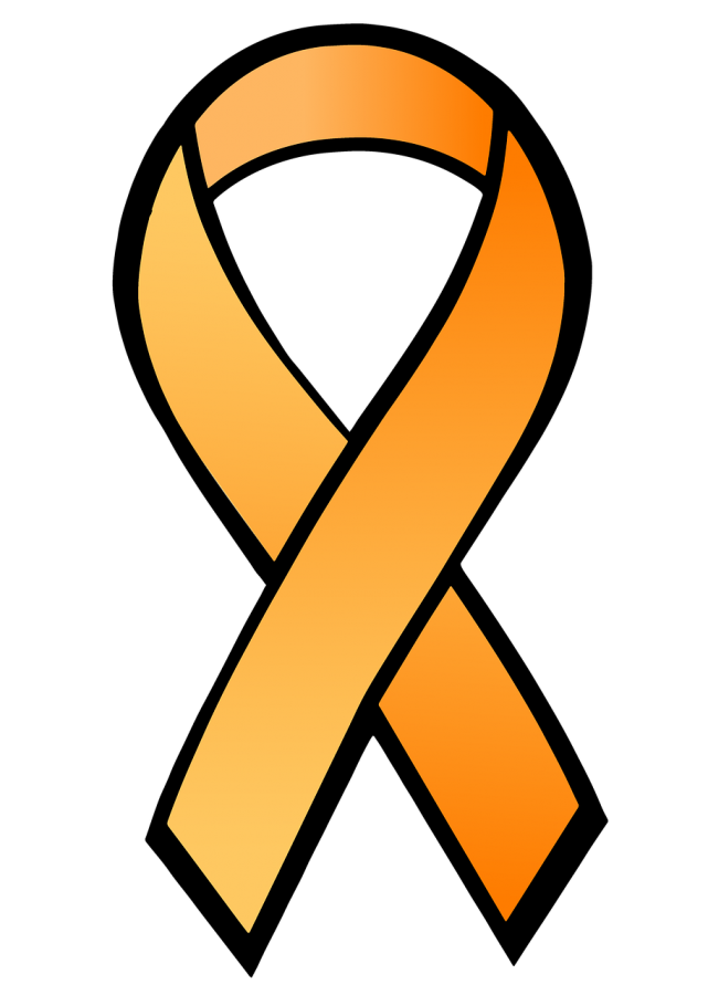 Victims can be in the forefront with orange ribbons.