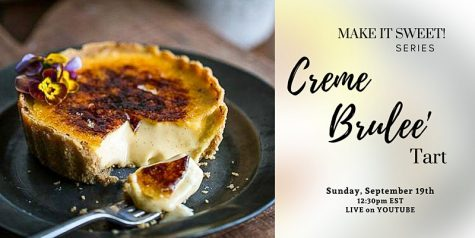 Virtual Cooking: Creme Brulee Tart - Sep. 19