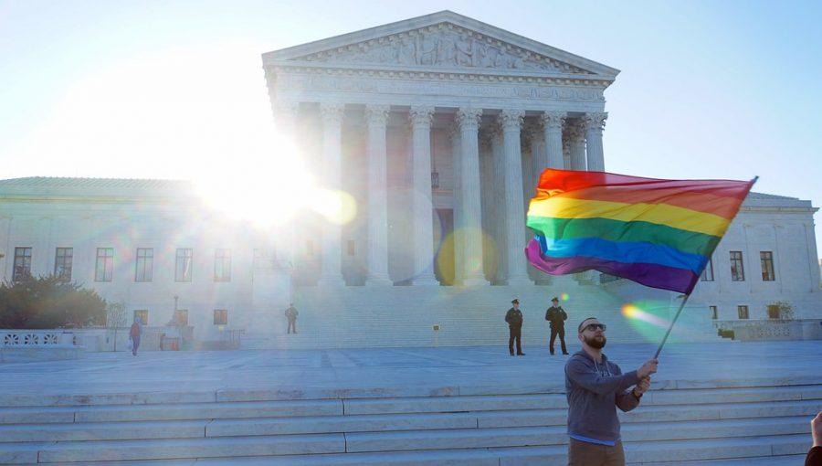 SCOTUS APRIL 2015 LGBTQ 54663 by tedeytan is licensed under CC BY-SA 2.0